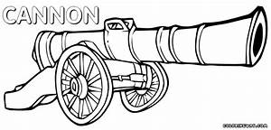 Cannon coloring pages | Coloring pages to download and print