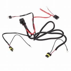 car xenon h7 hid conversion kit relay wire harness adapter With ceramic h4 headlight relay wiring harness 2 headlamp light bulb socket