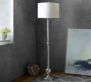 gillian candlestick floor lamp base pottery barn With pottery barn floor lamp glass