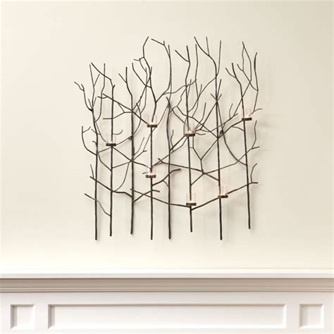twiggy metal wall candle holder reviews crate  barrel
