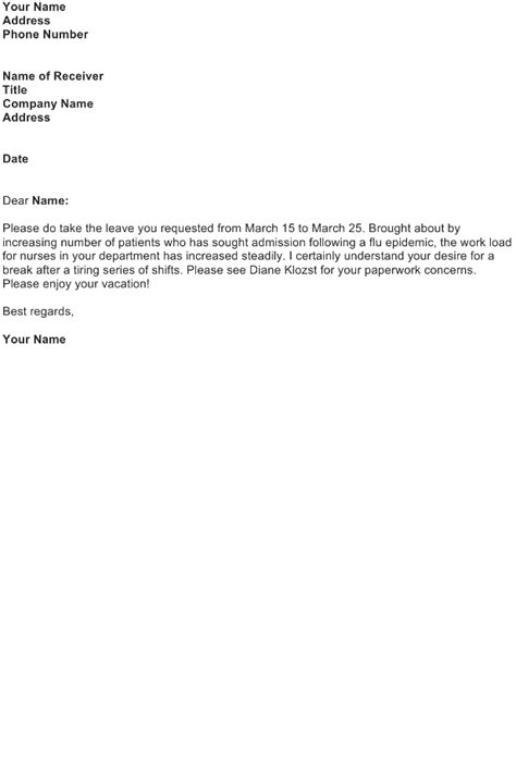 approval letter sample   business letter