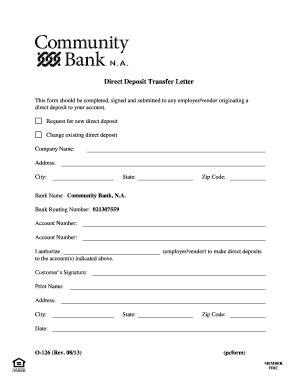 bank letter for direct deposit fillable direct deposit transfer letter community