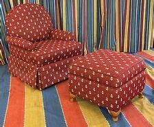 disneys yacht club resort red anchor chair  ottoman guest room prop wdw ebay