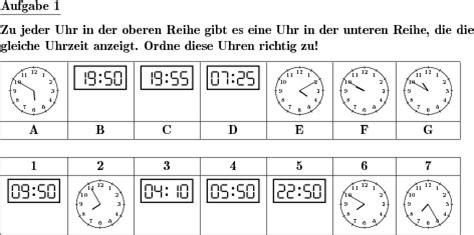 analog und digitalzeit zuordnen individuelle mathe