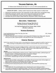 Graduate Nurse Resume Example Nursing