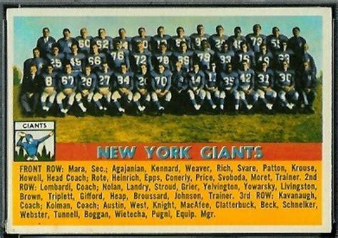york giants team  topps  vintage football