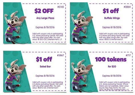 chuck  cheese coupons printable coupons