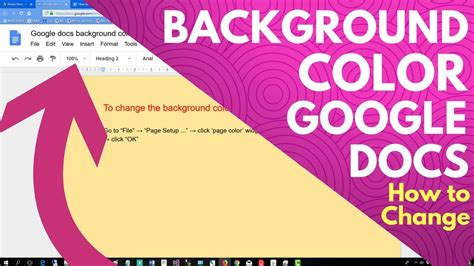 how to change background color docs background color how to change