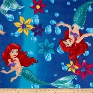 Disney The Little Mermaid Fleece Ariel Ombre Toss Blue