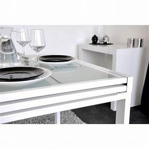 Table Blanche Design : extend table extensible blanche 90 180cm achat vente table salle a manger pas cher couleur ~ Teatrodelosmanantiales.com Idées de Décoration