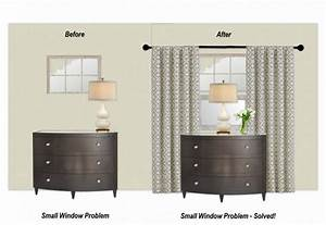 The magic trick that will solve your small window problem for How to choose curtains for small windows