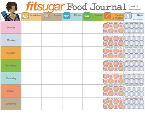 journal cuisine search results for daily food journal print out