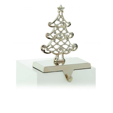 premier decorations tree stocking holder  silver
