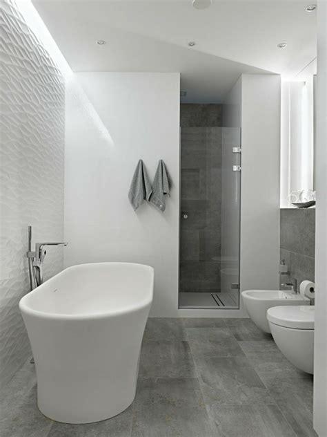 Modern bathroom floor tiles concrete look shower