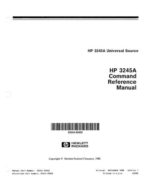 HP 3245A User's Manual | manualzz.com