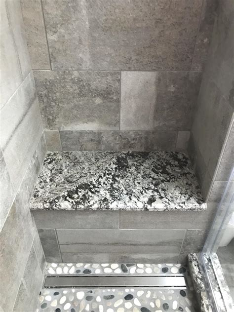 bathrooms modern bathroom update  severn md lennon granite shower seat