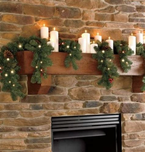 mantle garland with lights indoor 6 ft cascading mantle garland with clear lights