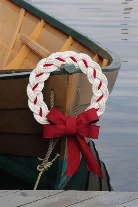 nautical rope wreath   harbor company hand