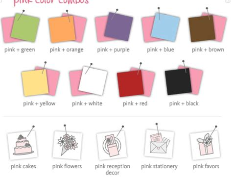 what colors go with pink matching color of pink more and more brides now choose pin flickr