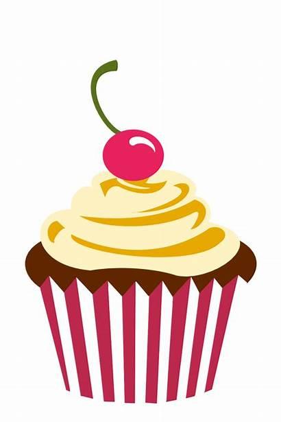 Clipart Cupcake Watercolor Transparent Cherry Chocolate Birthday