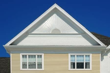 sunburst pattern siding  gable remodel siding
