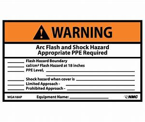 warning arc flash and shock hazard 3x5 ps vinyl 5 pk With arc flash and shock hazard