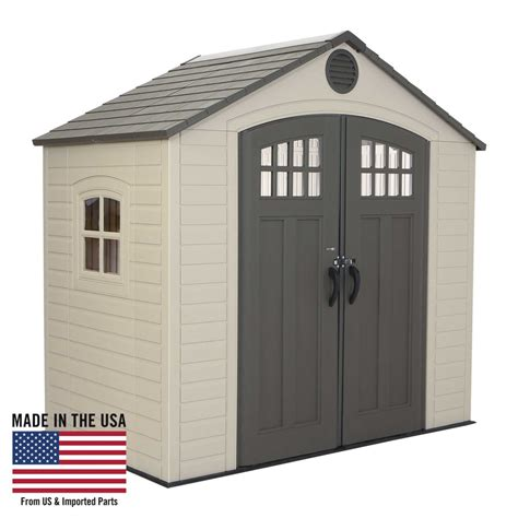 lifetime storage shed lifetime outdoor storage shed home garden