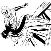 spider man   home coloring page