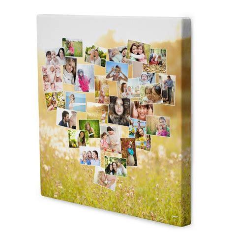 leinwand mit kindern gestalten leinwand collage bedrucken fotocollage auf leinwand
