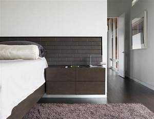 simple modern and space saving floating nightstands for With save more space with wall mounted headboards