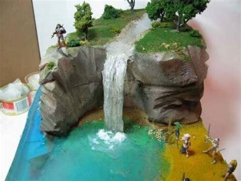 how to make artificial waterfall make a diorama waterfall youtube