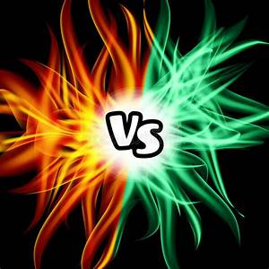 Versus Vector. VS Letters. Flame Fight Background Design ...