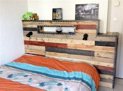 chambre palette bois revger com tete de lit en palette en bois idée