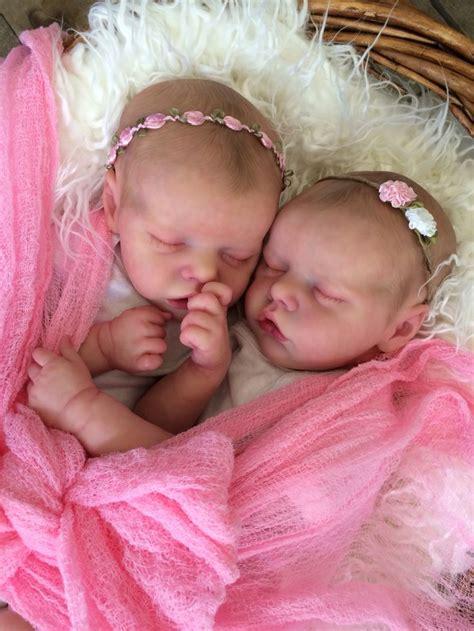 twin  twin  bonnie brown reborn doll created  mary