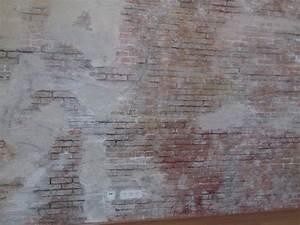 Wandgestaltung Mit Steinoptik : rustikale wandgestaltung in optik einer ziegelsteinoptik ~ Markanthonyermac.com Haus und Dekorationen
