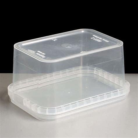 rectangular ml tamper evident container  lids