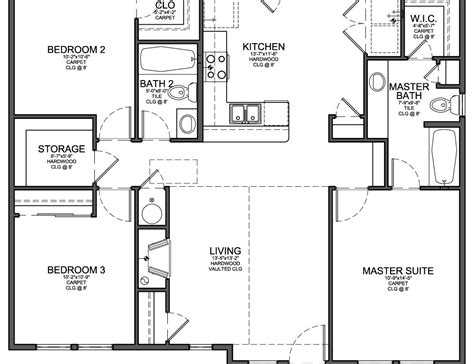 3 bedroom house plans one 50 3 bedroom open floor plan ranch house floor plans 1