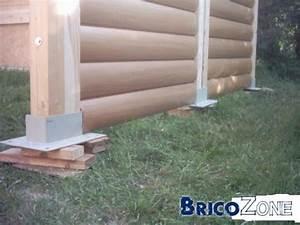 Comment Fixer Un Poteau Bois Au Sol : abris bois dalle de b ton ou plots b ton ~ Dailycaller-alerts.com Idées de Décoration