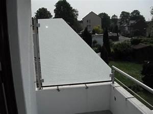 Milchglas Für Balkon : sichtschutz f r balkon oder terrasse windschutz ~ Markanthonyermac.com Haus und Dekorationen