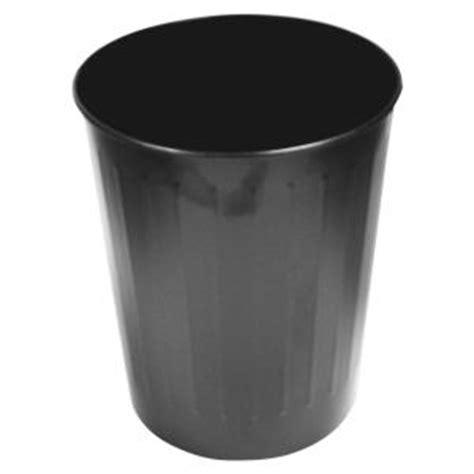 genuine joe  gal black  steel fire safe trash  gjo  home depot