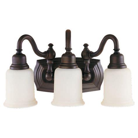 bronze vanity light feiss lismore 3 light rubbed bronze vanity light
