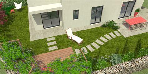 terrasse en rez de jardin avec une pergola mon jardin en