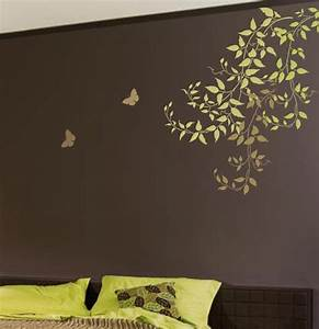 Wall Paint Design Stencils Wall Stencil Large Clematis ...