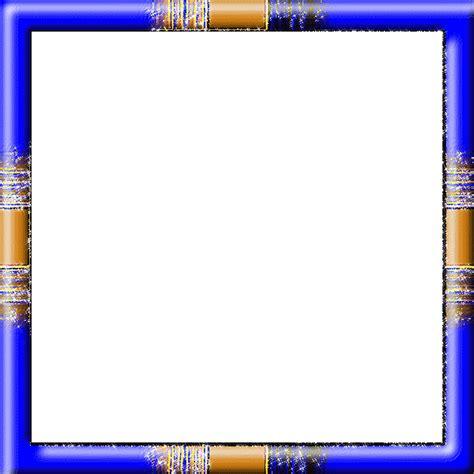 cadre scintillant en bleu et orange
