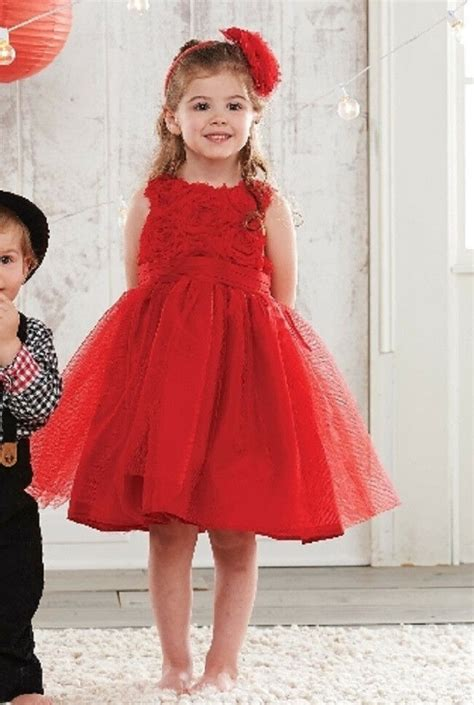 mud pie red rosette party dress christmas holiday