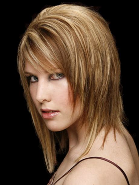 medium length layered haircuts for straight hair