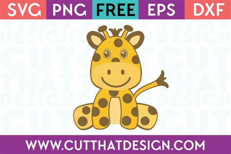 Baby icons designed using sketch. Cute Baby Giraffe Cut That Design