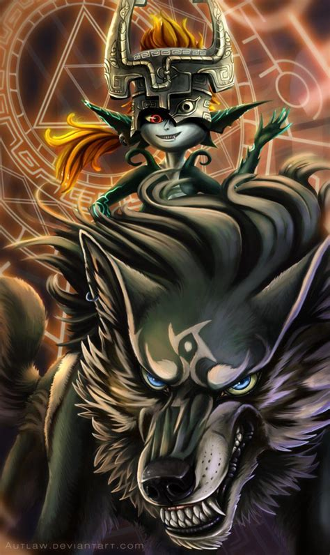 The Legend Of Zelda Link And Midna By Autlaw Anouk