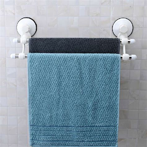 towel holder shelf rod suction cup stainless steel wall mounted 2879