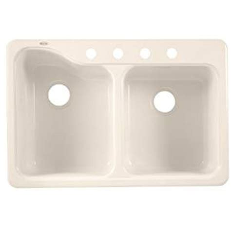 americast kitchen sinks silhouette american standard 7145 804 345 silhouette 33 by 22 inch